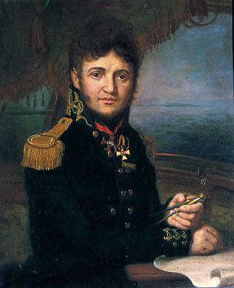Yuri Lisyansky - Portrait of Lisyansky by Vladimir Borovikovsky.