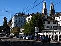 Zürich - Bellevue - Limmatquai - Wasserkirche - Grossmünster IMG 4454.JPG