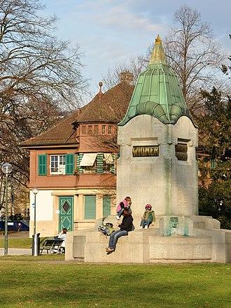 Swiss Psalm - Image: Zürich Seefeld Zwyssig Widmer Brunnen IMG 1605