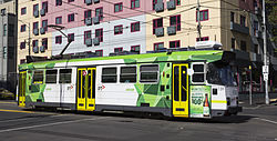 Z3 139 (Melbourne tram) in Swanston St, December 2013.JPG