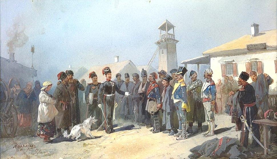 Zachisleniy w kazaki plennych polykov armii Napoleona 1813