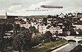 Zeppelin III. Erste Durchfahrt über Tübingen (AK Gebr. Metz 1909 TPk170a).jpg