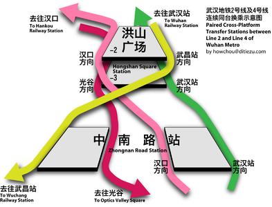 Optics Valley Subway Map For Wuhan China.Line 2 Wuhan Metro Wikipedia
