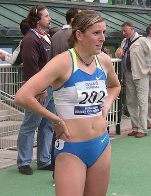 2003 World Youth Championships in Athletics - Zuzana Hejnová won the gold for the Czech Republic in the women's 400 metres hurdles.