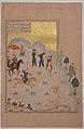 """Bahram Gur's Skill with the Bow"", Folio 17v from a Haft Paikar (Seven Portraits) of the Khamsa (Quintet) of Nizami MET sf13-228-13-f17r.jpg"