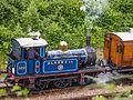 """""""Bluebell"""" departing Horstead Keynes with train of 4-wheelers (9131759048).jpg"""