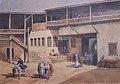 """""""Le khan à Bouldour ( ville de Pisidie, Anatolie, Turquie), dessin de Maxime Collignon (1849-1917), dit Max Collignon, datée de 1878 ; collection Miniac, Rennes..JPG"""