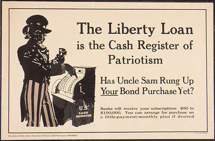 "U.S. Food Administration, educational division poster ""Liberty Loan is the cash register of Patriotism. Has Uncle Sam Rung Up Your Bond Purchase Yet^ Banks will receive... - NARA - 512718.jpg"