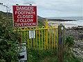 """Temporary"" Footpath Closure ^ - geograph.org.uk - 1512849.jpg"