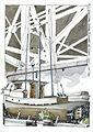 'Relief' halibut fishing Boat under the Granville Street Bridge, Granville Island - 201307.jpg