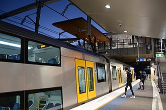 North Shore, Northern & Western Line - A Sydney Trains A set at Cheltenham station