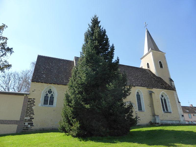L'église Saint-Martin de Trizay, à Trizay-Coutretot-Saint-Serge, en Eure-et-Loir.
