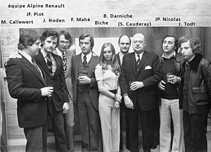 Jean Todt - Todt (right) with Darniche, Nicolas and Piot in 1973