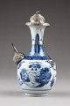 Östasiatisk keramik. Kanna med silverbeslag, orientalisk stil - Hallwylska museet - 95793.tif