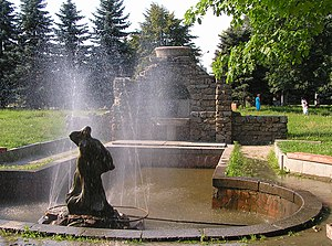 Korostyshiv - Image: Купальня садиби графа Олізара