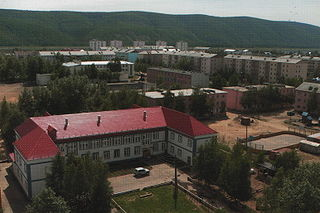 Lensk Town under district jurisdiction in Sakha Republic, Russia