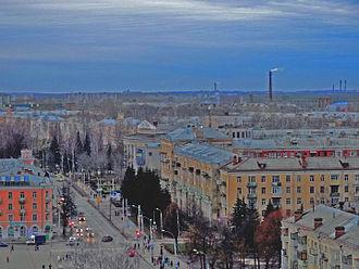 Yaroslavl Oblast - Image: Рыбинск сверху