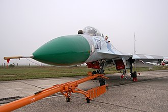 Hostomel Airport - Ukraine Air Force Sukhoi Su-27 at the airport
