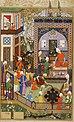 Хосров слушает музыку Барбада.Хамсе, Низами. 1539-43. Брит.библ..jpg