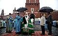 Церемония открытия надвратной иконы на Спасской башне Кремля 2.jpg