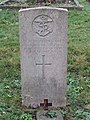 -2020-12-09 CWGC gravestone, J W Burrows OBE, Signalman RN, Saint Nicholas, Salthouse.JPG