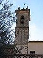 055 Sant Jeroni de la Murtra, el campanar des del claustre.JPG