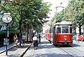 057L32270679 Gersthof, Herbeckstrasse, Blick stadtauswärts, Endstelle der Linie E2, Linie E2 Typ L 539 27.06.1979.jpg