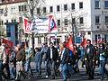 1. Mai 2013 in Hannover. Gute Arbeit. Sichere Rente. Soziales Europa. Umzug vom Freizeitheim Linden zum Klagesmarkt. Menschen und Aktivitäten (132).jpg