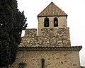 105 Sant Esteve de la Doma, campanar i merlets.jpg