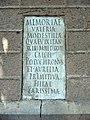 110 Torre Pallaresa, inscripció romana vora la capella.JPG