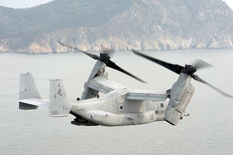 米海兵隊MV-22 回転翼モード