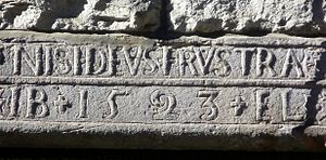 Marriage stone - One of many 16thC door lintels in Edinburgh's Old Town
