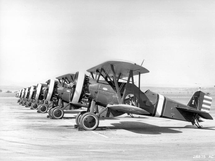 17th Pursuit Squadron P-12s - March Field about 1932