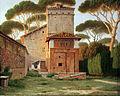 1816 Eckersberg Pförtnerhaus im Park der Villa Borghese in Rom anagoria.JPG