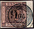 1851 9kr altrosa Baden 5rings 104 Offenburg Mi4a.jpg