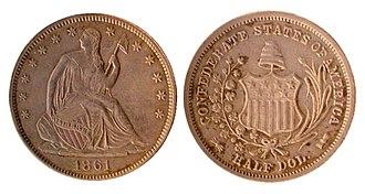 Confederate war finance - Confederate half dollar coin