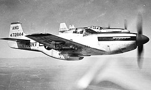Montana Air National Guard - Montana Air National Guard 186th Fighter Squadron - Three North American F-51D Mustangs in formation, 1948