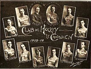 History of the Montreal Canadiens - Image: 1909 10 Canadiens Team Picture