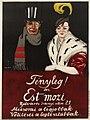 1915 circa Tibor Pólya Plakat Tényleg! az Est mozi (Wirklich! Das Abend Kino), Miklós Biró Müintézete, Budapest.jpg