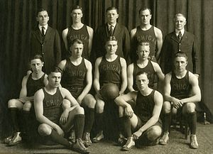 1919–20 Michigan Wolverines men's basketball team - 1920 Michigan men's basketball team Back row (left to right): Clayton Shoemaker (manager), Jack Williams, E. J. Mather (coach), R. Jerome Dunne, and Philip Barthelme (athletic director) Middle row (left right): Benjamin Weiss, William Henderson, Ralph O. Rychener (captain), Wilford Wilson, Arthur Karpus Front row (seated on floor): Robert Peare, Walter B. Rea