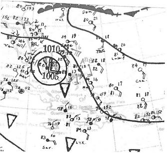 1933 Treasure Coast hurricane map