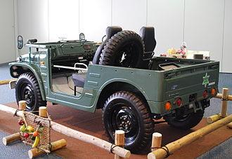 Suzuki Jimny - Suzuki Jimny LJ20 (1973), note spare tire placement