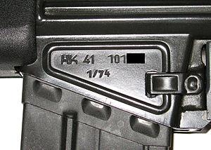 Heckler & Koch HK41 - 1974 model HK41 receiver.