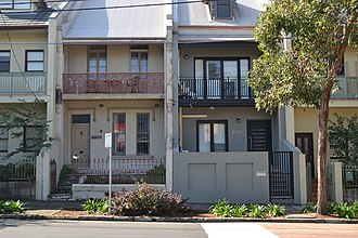 Zetland, New South Wales - Image: 1 Zetland Terrace Homes