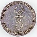 2-3 Thaler 1833 Wilhelm IV(Rs)-2450.jpg
