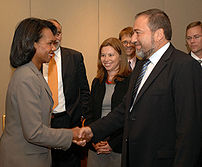 Avigdor Lieberman and Condoleezza Rice.