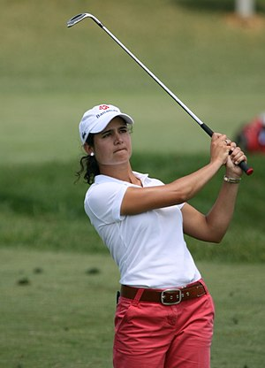 Lorena Ochoa - Ochoa hitting an iron shot at the 2007 LPGA Championship