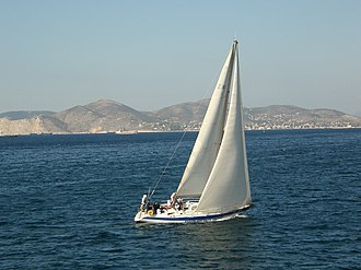 Hellenic Naval Academy - Sloop A233 of the Hellenic Naval Academy sails with a crew of naval cadet officers.