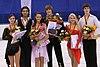 2009 JGP Dresden ice-dance Podium.jpg