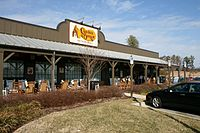 A Cracker Barrel restaurant in Morrisville, North Carolina